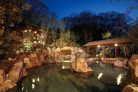 天然温泉「延羽の湯 野天 閑雅山荘」