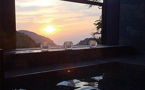 ホテル四季の蔵 サンセットの美しい風景
