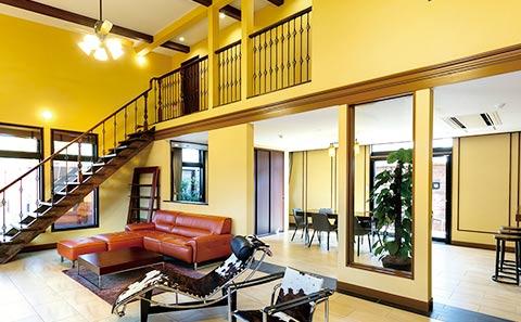 ホテル ザ・パヴォーネCLUB ROOMグランプBBQパーク キッチンも完備しているリビングルーム