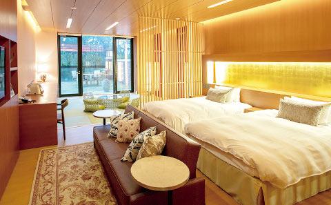 ホテル ザ・パヴォーネCLUB ROOMグランプBBQパーク ベッドルーム