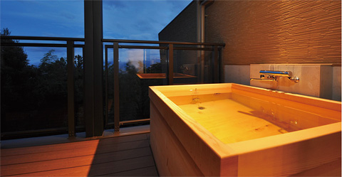 全室客室温泉露天風呂付き
