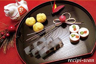 わんちゃんのおせち料理3品