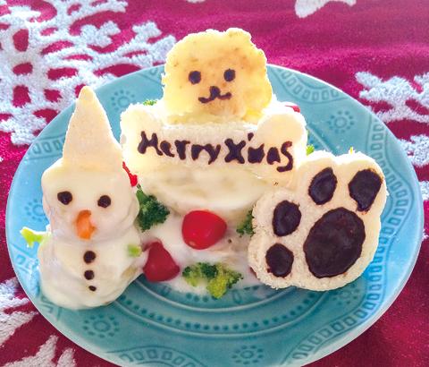 グルテンフリーでクリスマスケーキ
